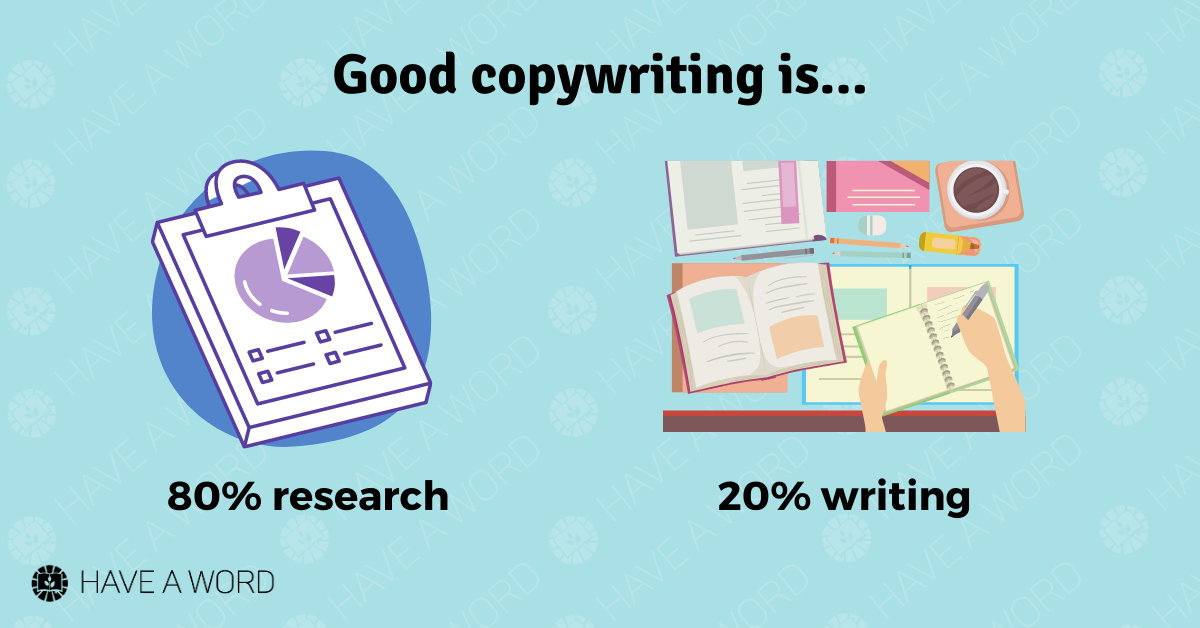Great copywriting relies on thorough research