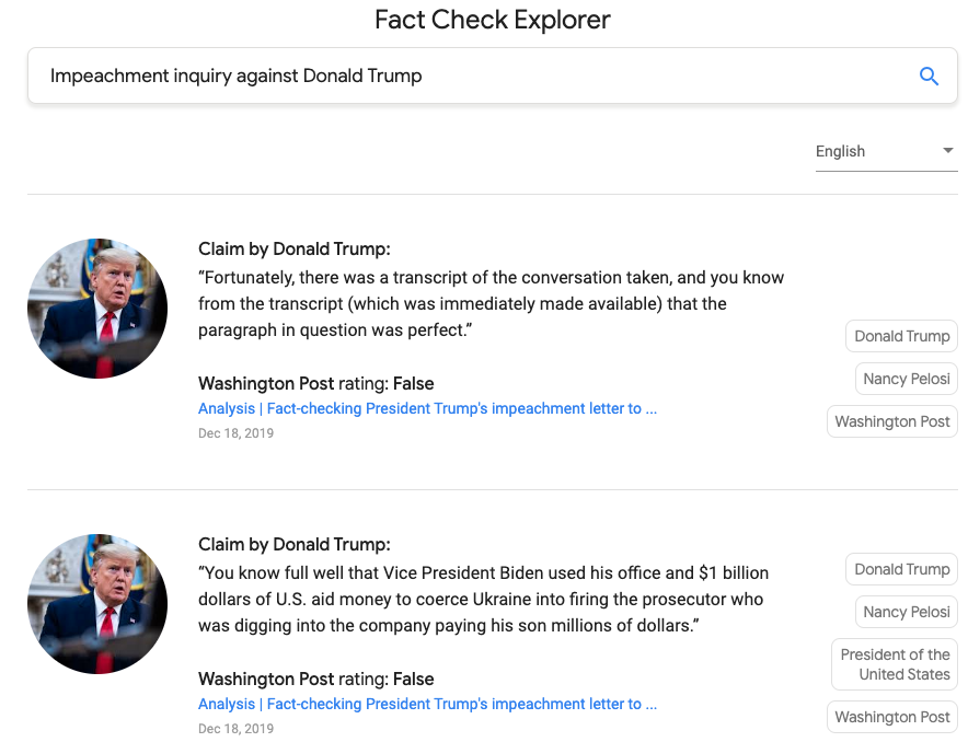 Google's fact-checker