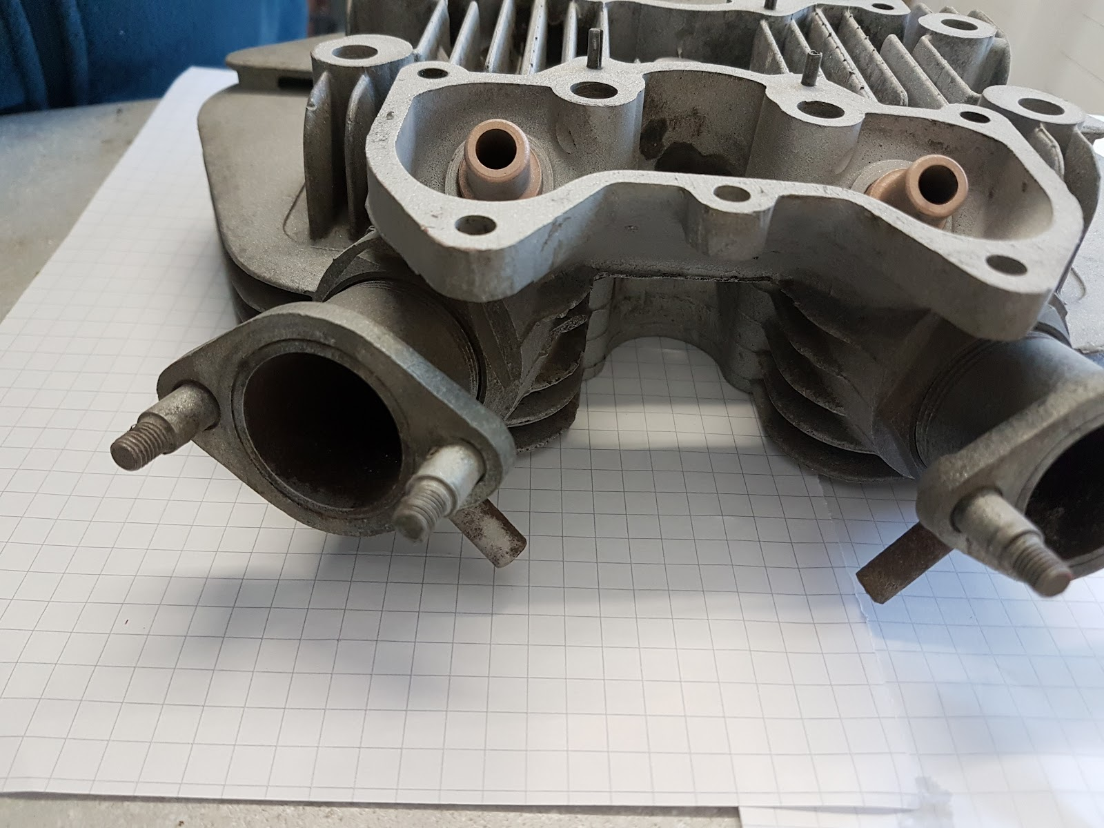 T120 cylinder head after sand blasting.