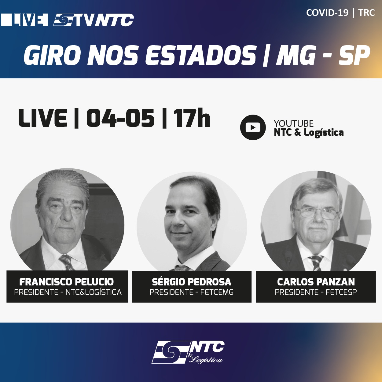Presidentes da FETCESP e FETCEMG participam hoje do 'Giro nos estados'