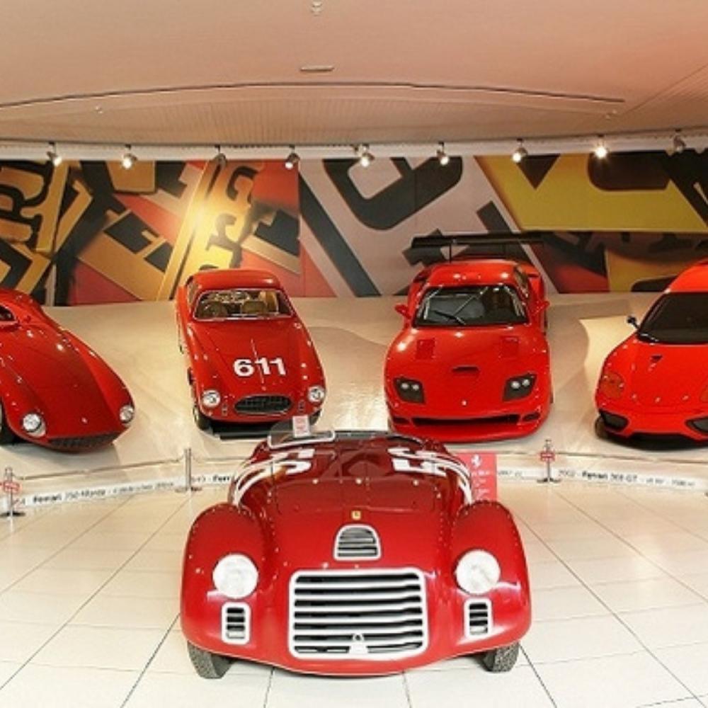 Pagani model cars in the Pagani Museum