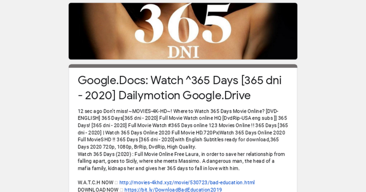 365 Days (2020) Full Movie Watch Online Free *Rip File*