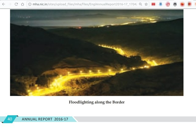 Home Ministry Report On Border Floodlighting Shows Spain-Morocco Border