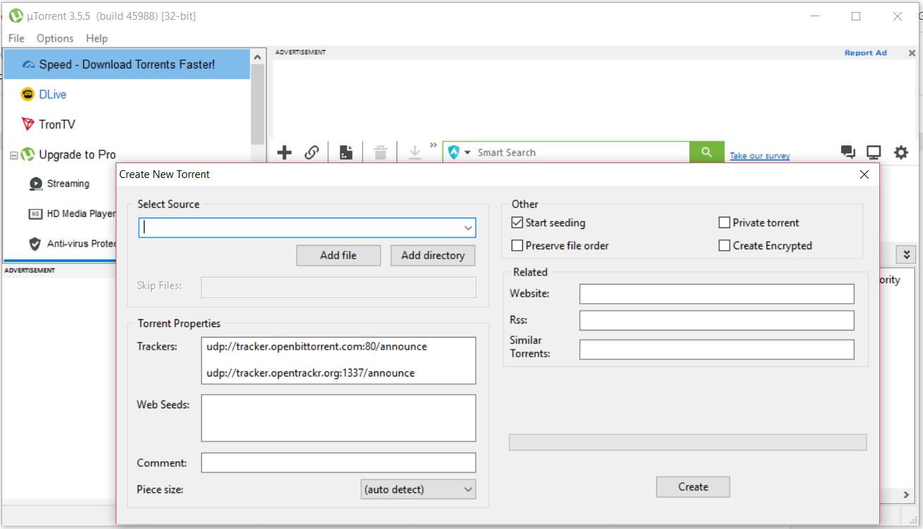 How to make & upload Torrent