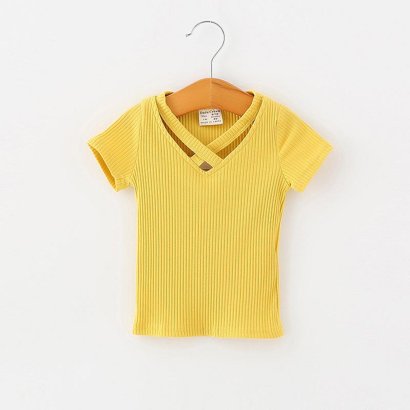 T-shirt dziecięcy żółty
