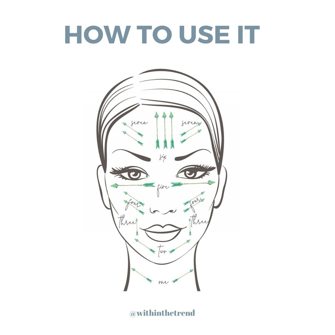 how to use a face roller infographic