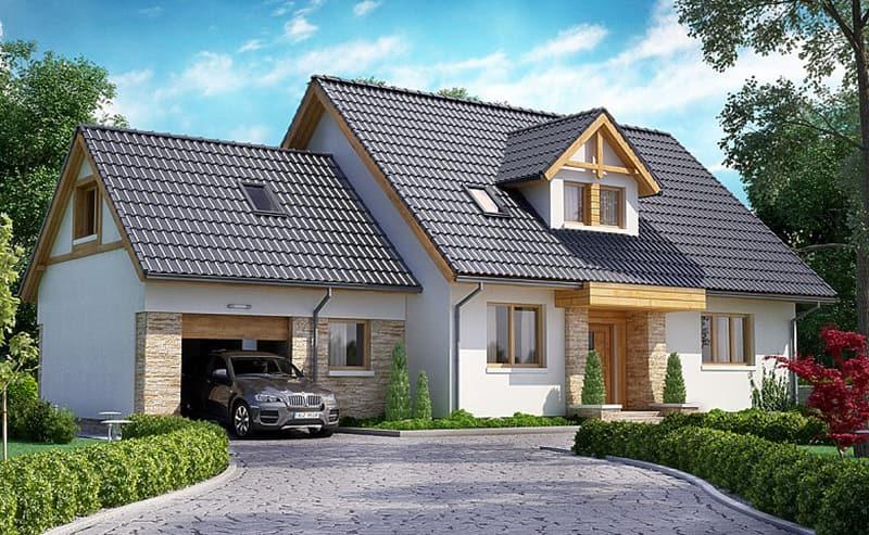 Mẫu nhà cấp 4 thiết kế theo phong cách châu Âu mái Thái