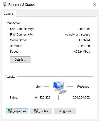 Ethernet 8 Status