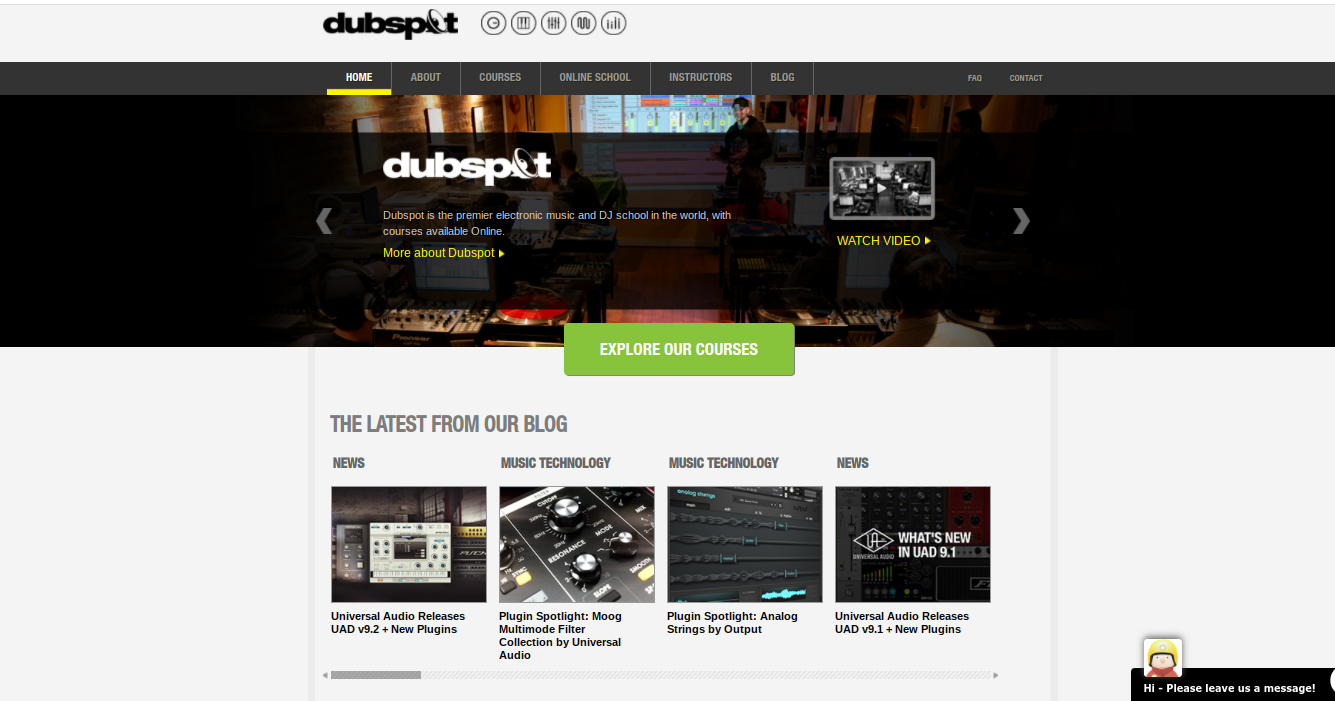 Dubspot offers a ton of online courses and certificate programs.