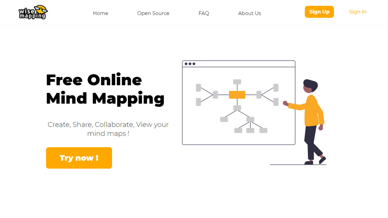 site para brainstorming online wisemapping