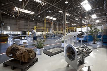 Linha de produção da Mercedes em Campinas