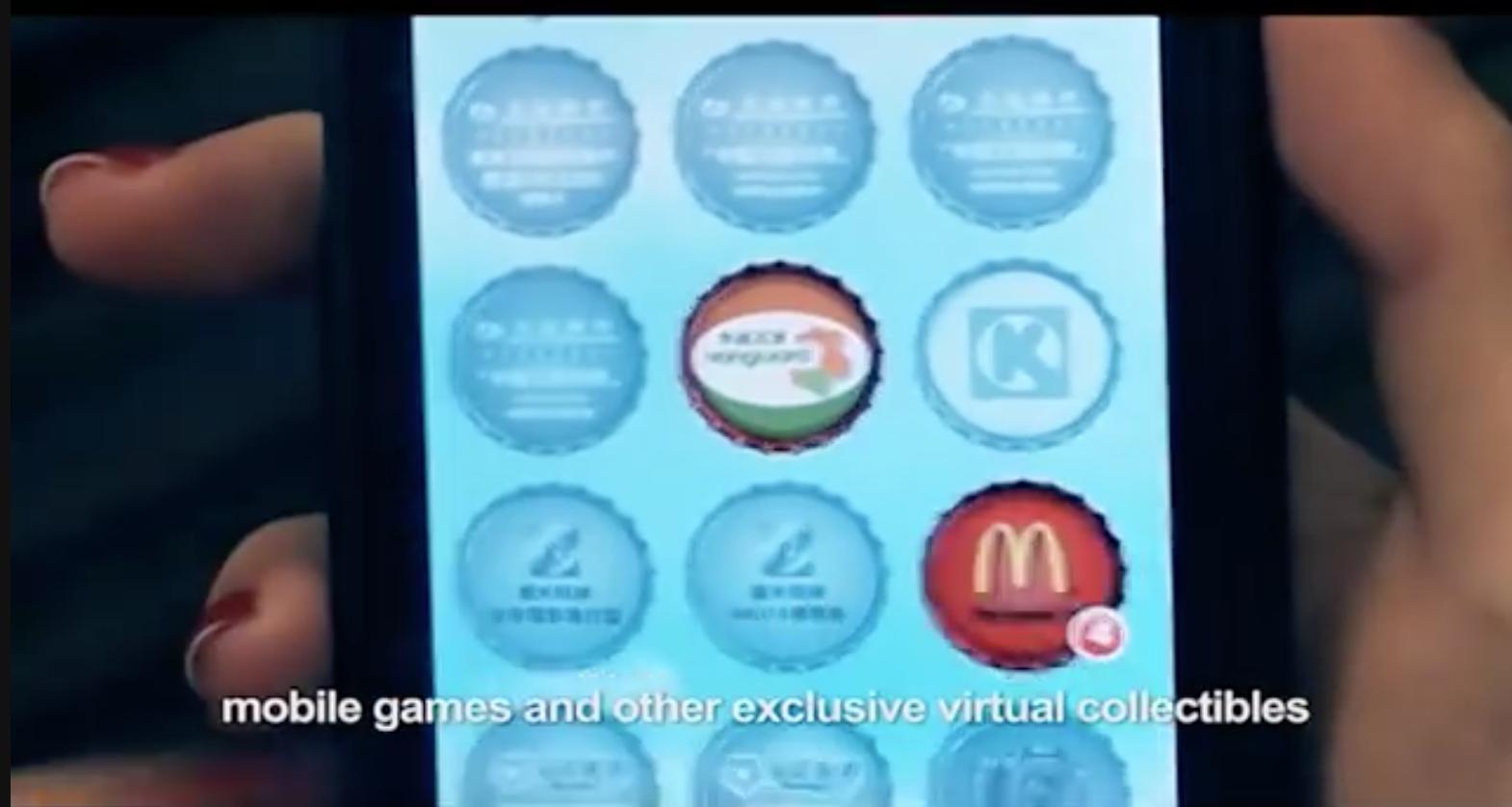 gamification Coca Cola set da collezione
