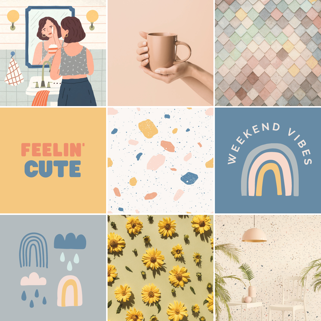 Design trends of using muted color palettes in graphic design.