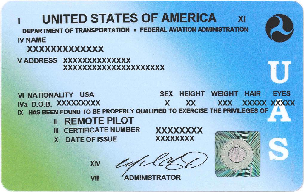 FAA Part 107 certificate