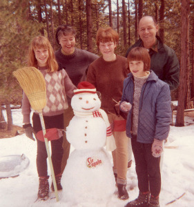 Don and Marian with daughters Patricia (left), Cathleen (center) and Deborah