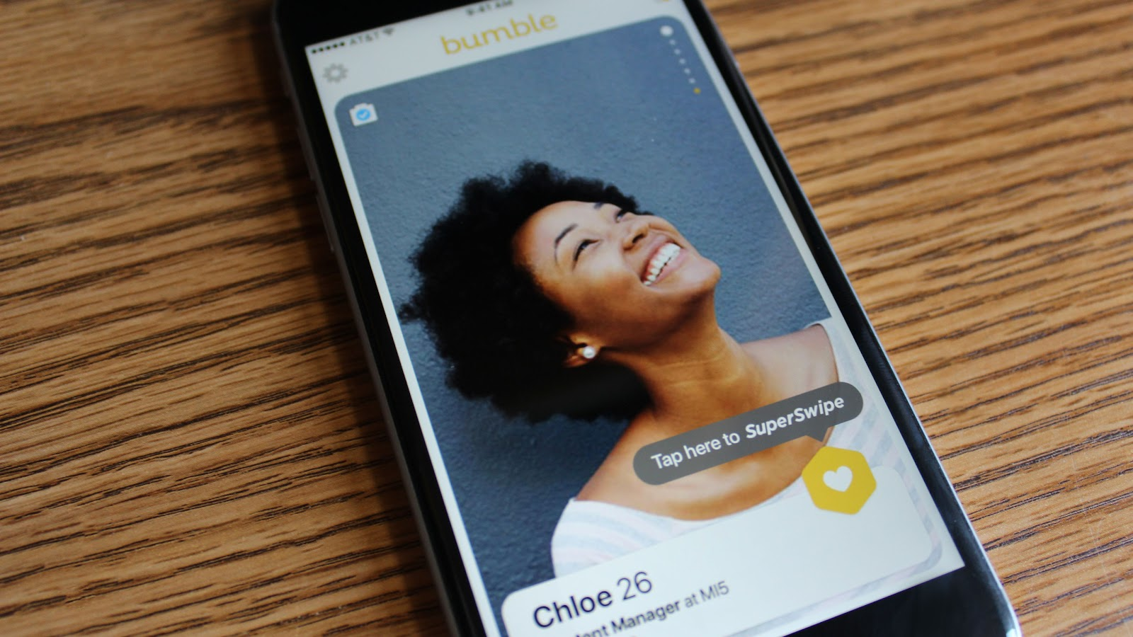 Image of Bumble app