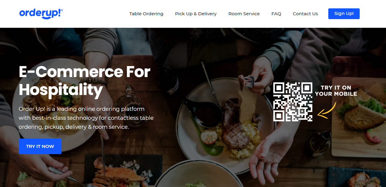 OrderUp: food delivery app