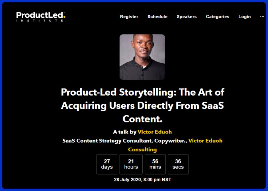 victor eduoh product-led storytelling