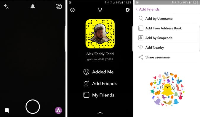 how to develop an app like Snapchat and add friends