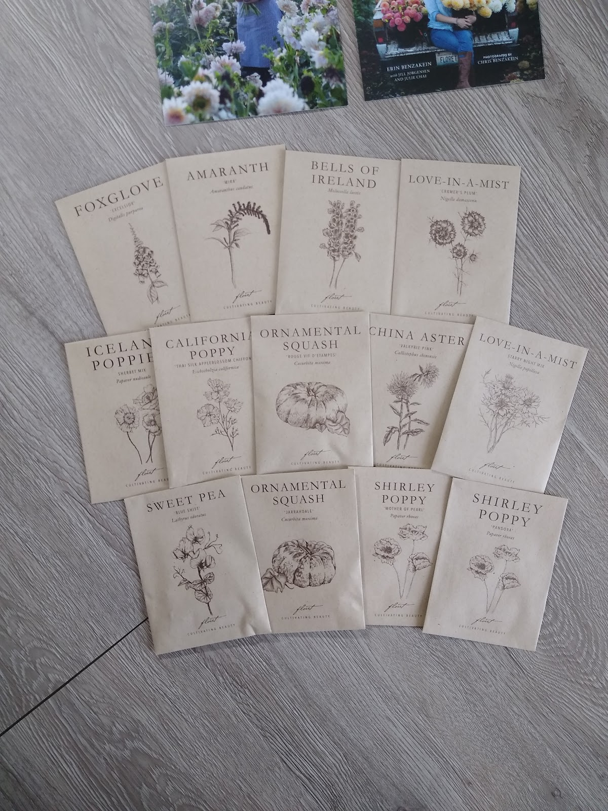 floret flower seed packets