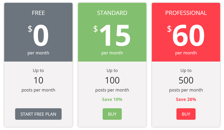 Storrito has three pricing plans