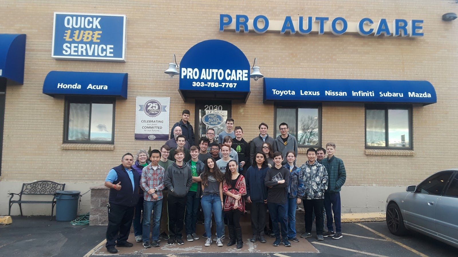 George Washington High School STEM Team Tours Pro Auto Care