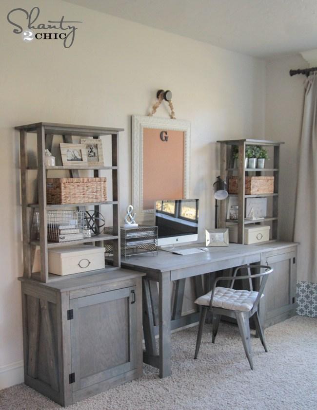 Planos de escritorio de computadora: plan de escritorio de truss de bricolaje
