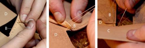 آموزش درست کردن کیف پول چرمی دستساز - مرحله ۴