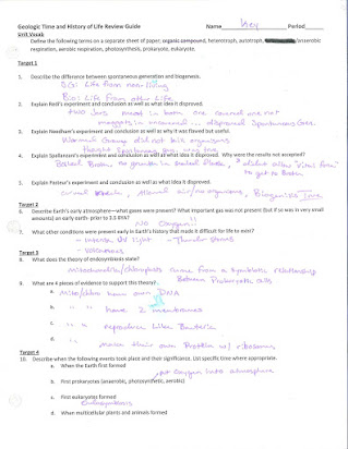 Cell division homework #1 answer key