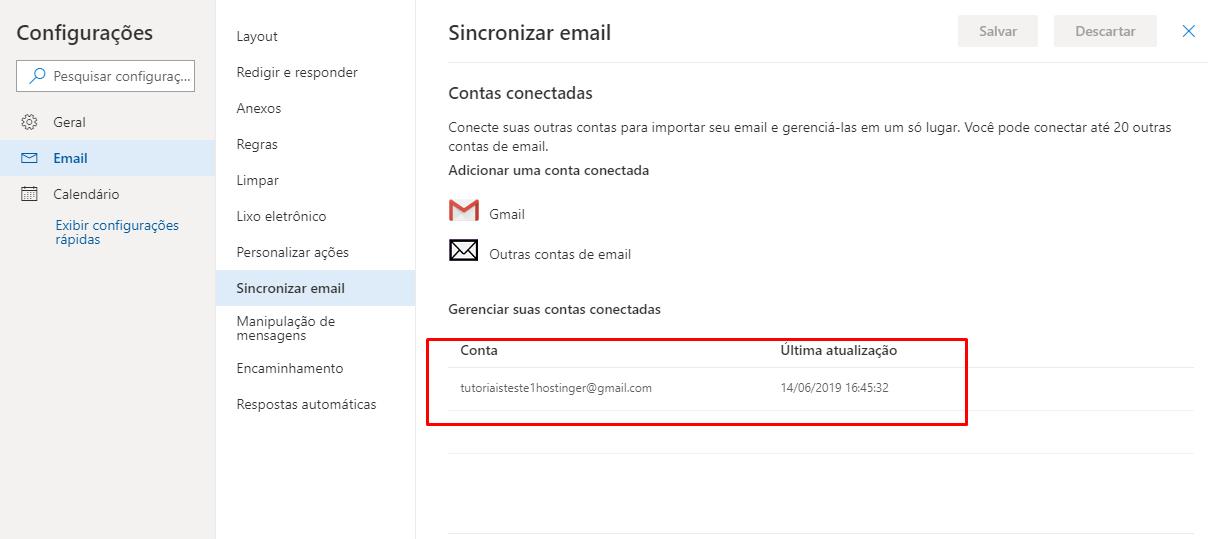 Verificar contas conectadas à Microsoft