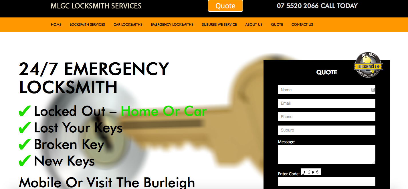 Mobile Locksmith Gold Coast Website Screenshot.png