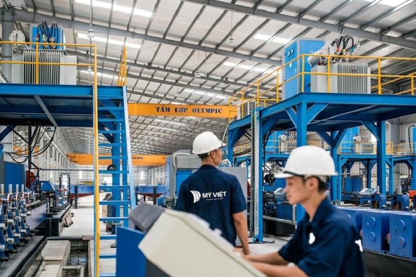 Nhà máy sản xuất tôn thép Olympic hiện đại, chất lượng