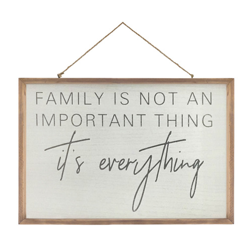 Image of a Family quote wall décor from American Country Home Store