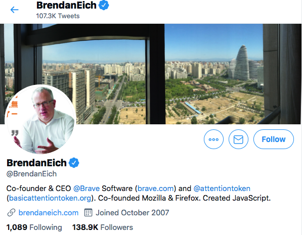 Top JavaScript Experts And Thought Leaders to Follow brendan eich