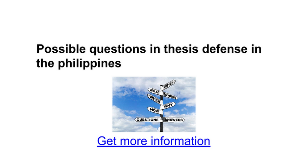 typical dissertation defense questions How to prepare for the phd defense so that i could put them on the projector during the defense one of these questions my dissertation.
