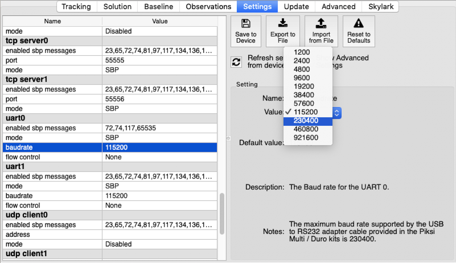 Swift Navigation | SBP Bandwidth and Changing Baud Rate