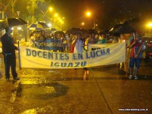 Docentes en frene a la plaza San Martín 21-03-2014