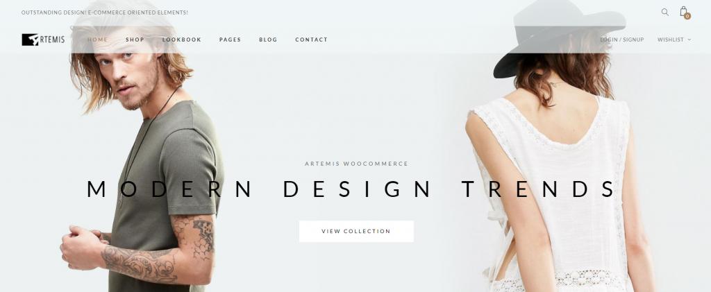 template de loja virtual Artemis