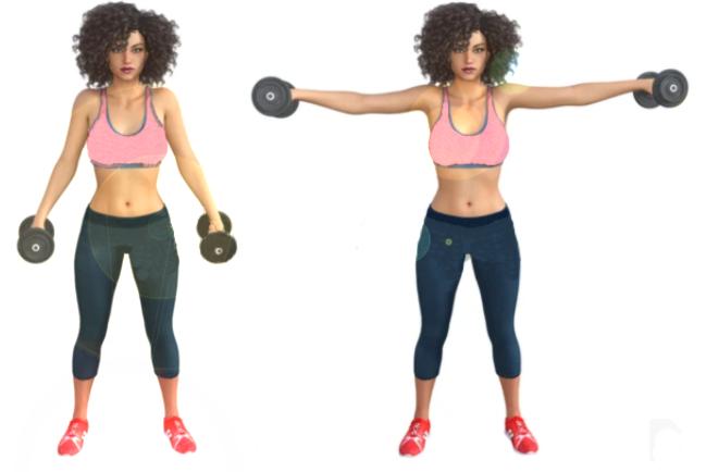 ejercicio elevaciones laterales con mancuernas