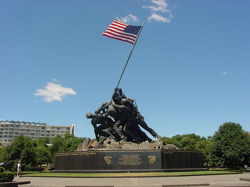File:US Marine Corps War Memorial (Iwo Jima Monument) near Washington DC.jpg
