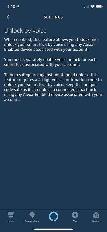 Alexa Unlock Pin Code Info