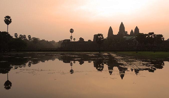 Angkor Wat, Cambodia, temples, Ta Phrom and Angkor Thom, Southeast Asia