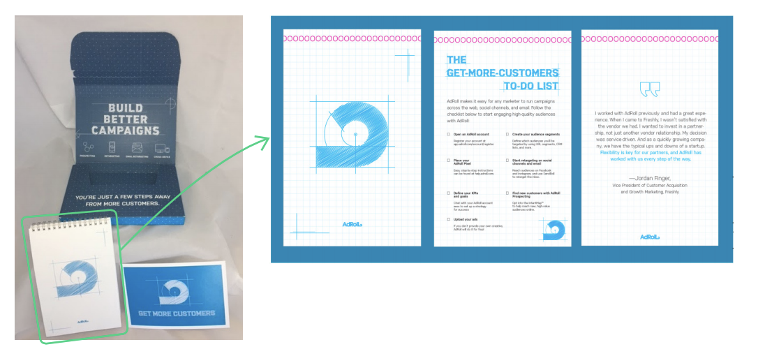 gift packet for accounts based marketing campaign