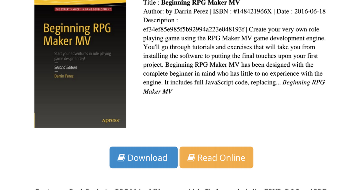 Beginning-RPG-Maker-Darrin-Perez