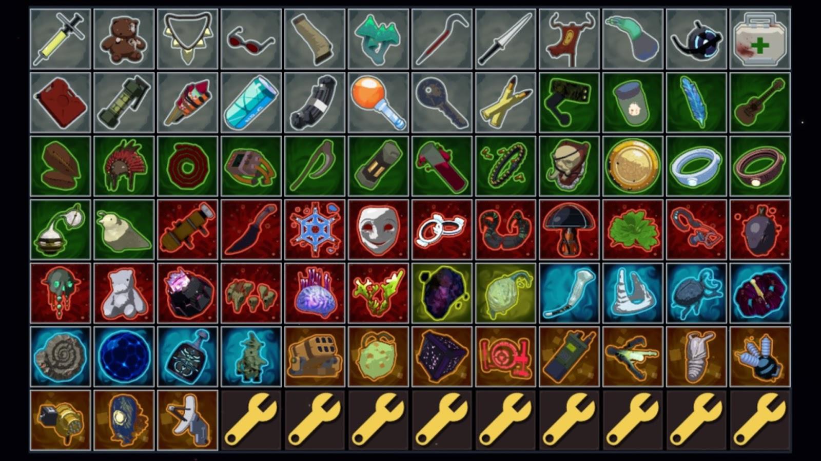 Items for risk of rain 2 commando