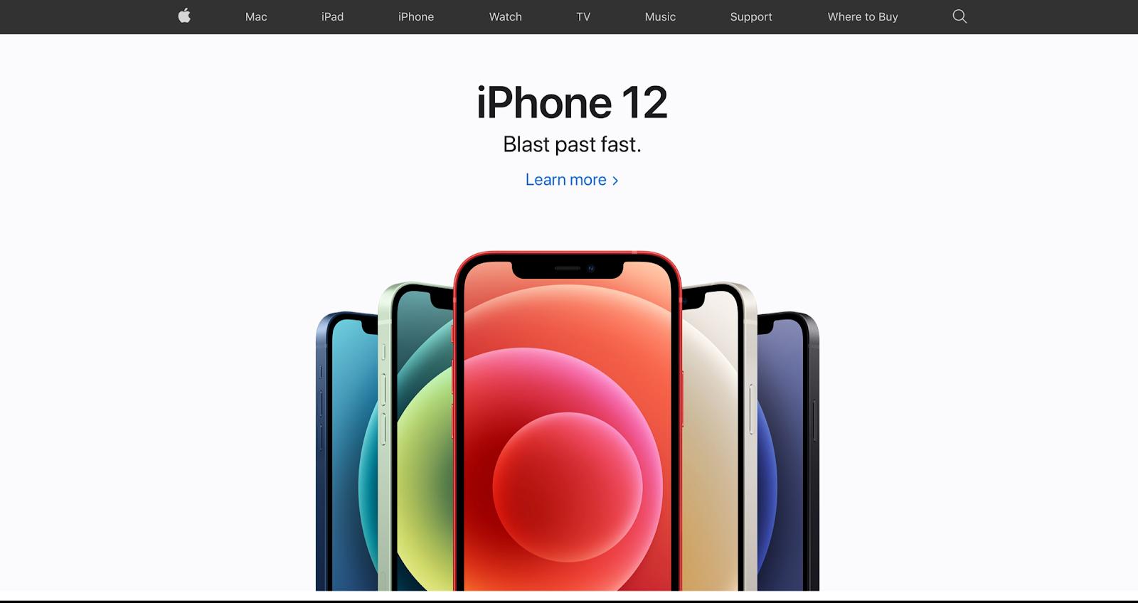Minimalist website examples - Apple