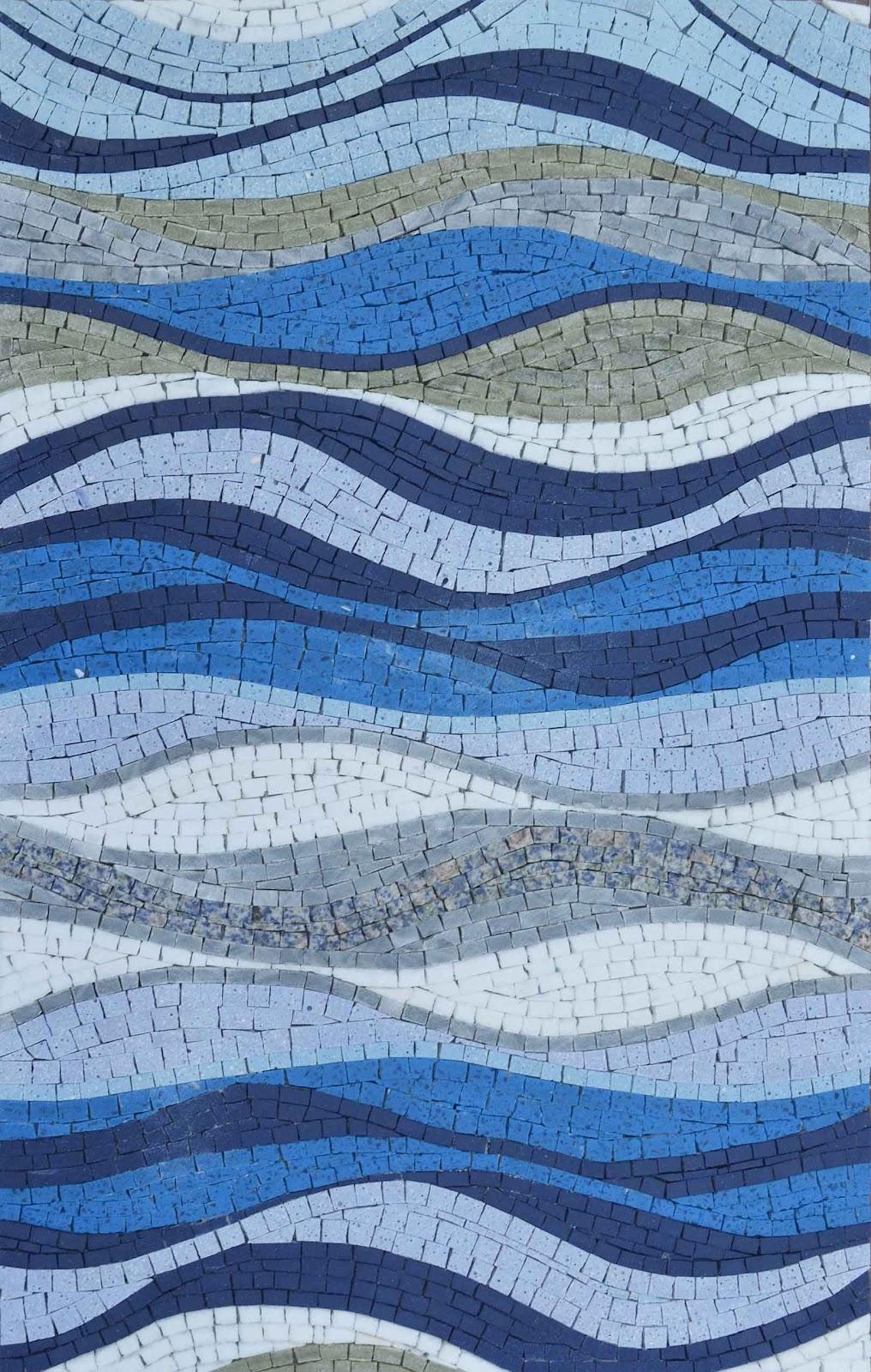 """Sea Shades"" Mosaic Pattern by Mozaico"