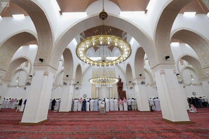 Inside of Qiblatayn Mosque, Madinah, Saudi Arabia