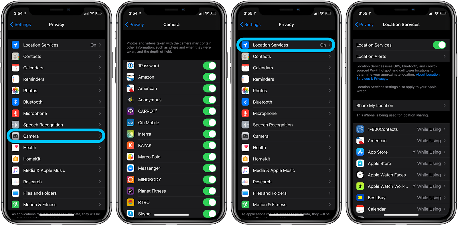 How to check what apps have iPhone camera and mic access walkthrough 2