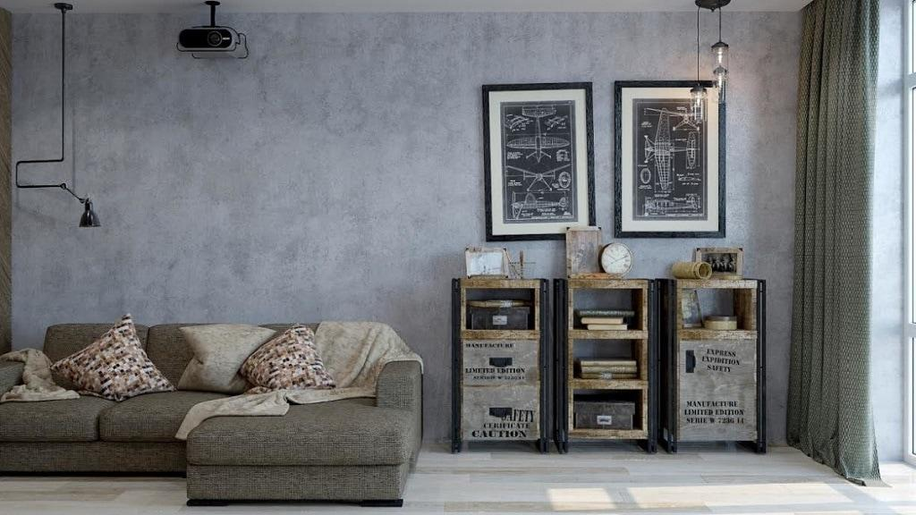 Kiến tạo nhà đẹp với sơn tường giả bê tông hiện đại